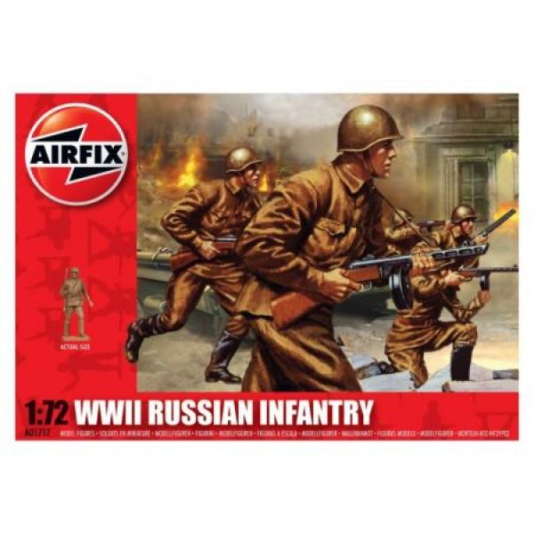 Kit soldati Airfix 01717 Set 41 soldati WWII Infanterie Rusa scara 1:72  0