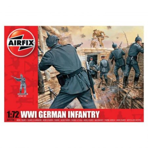 Kit soldati Airfix 01726 Set 48 soldati WWI Infanterie Germana scara 1:72