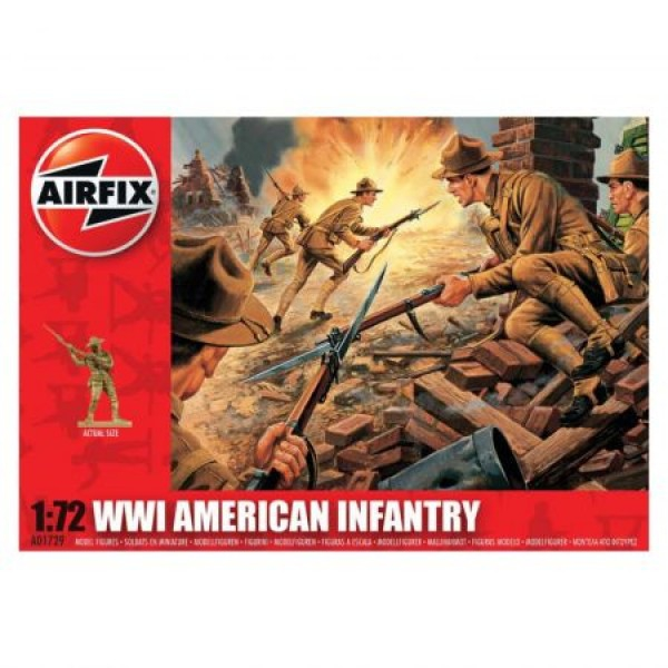 Kit soldati Airfix 01729 Set 48 soldati WWI Infanterie Americana scara 1:72