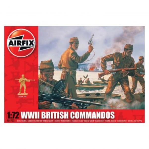 Kit soldati Airfix 01732 Set 40 soldati WWII Comando Britanic scara 1:72  0