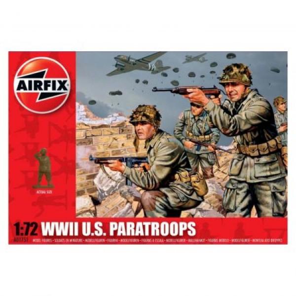 Kit soldati Airfix 01751 Set 48 soldati WWII Paratrupe Americane scara 1:72