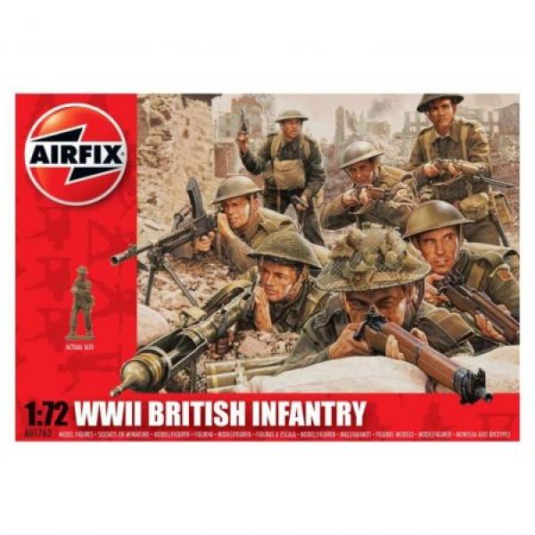 Kit soldati Airfix 01763 Set 48 soldati WWII Infanterie Britanica scara 1:72
