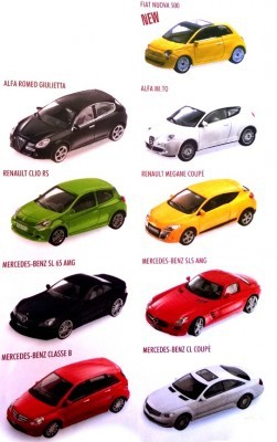 Machete masinute European Collection 0