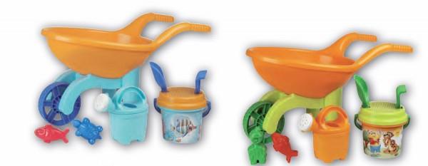 Roaba din plastic pentru copii Androni cu galetusa stropitoare