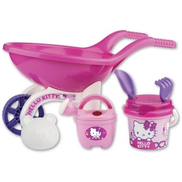 Roaba din plastic pentru copii Androni Hello Kitty cu galetusa stropitoare