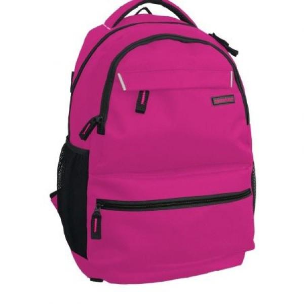 Rucsac Adventurer scolar roz cu negru si minge cadou