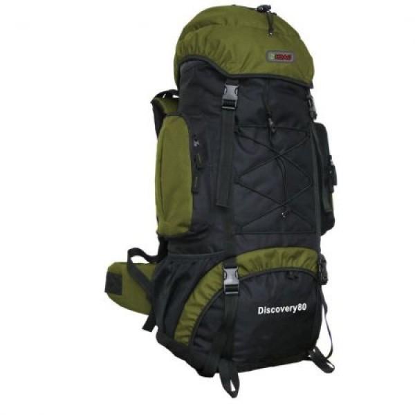Rucsac de munte Adventurer 8068 khaki 80 litri si minge cadou