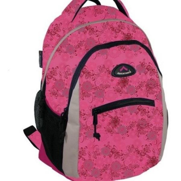 Rucsac scolar Adventurer 5058 Roz cu floricele