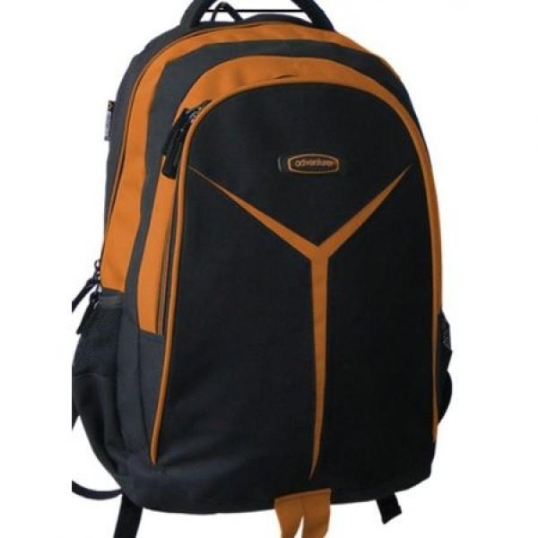 Rucsac scolar Adventurer negru cu portocaliu 0