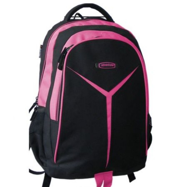 Rucsac scolar Adventurer negru cu roz