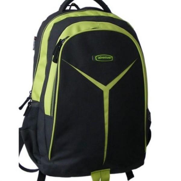 Rucsac scolar Adventurer negru cu verde