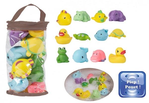 Set 12 jucarii de baie pentru bebelusi Bo Jungle