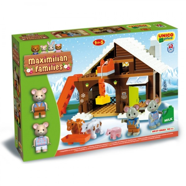 Set constructie Unico Maximilian Families Refugiul Montan 93 piese 0