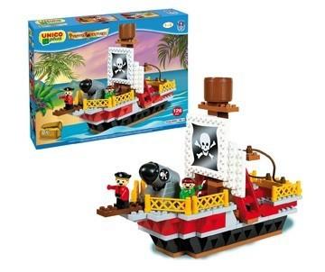 Set constructie Unico Plus Corabie pirati