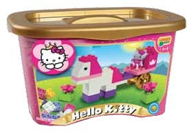 Set constructie Unico Plus Hello Kitty Galetusa 44 piese