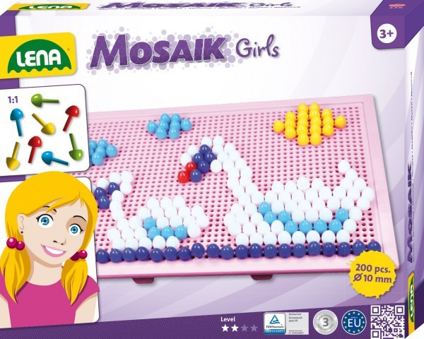 Set creatie si constructie Mozaic Lena Tablita Roz 200 piese 0