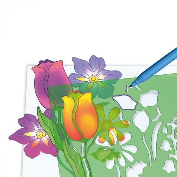 Set creativ pentru copii Forme Flori Quercetti 0
