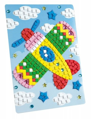 Set creativitate Mozaic din burete Avion 405 piese