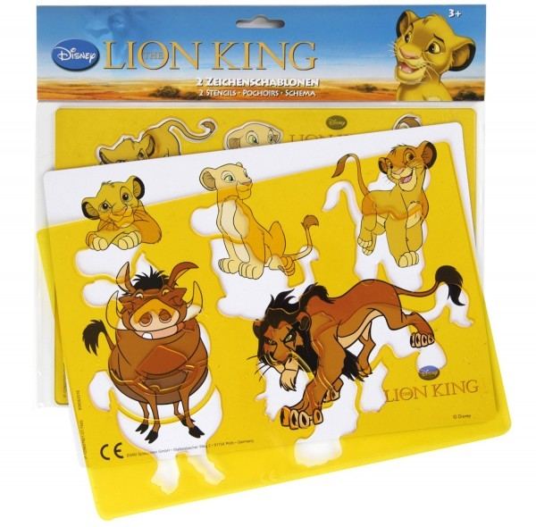 Set sabloane desen Rele Leu Lion King Lena pentru copii 0