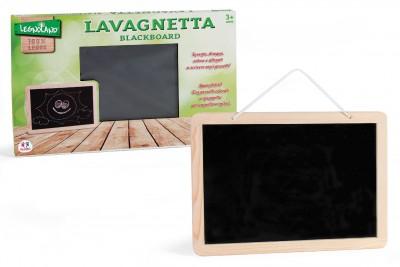 Tablita de scris din lemn cu creta si burete