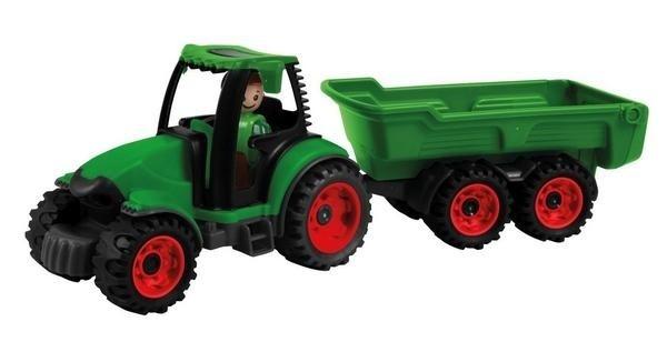 Tractor cu remorca Lena Truckies pentru copii Verde 0