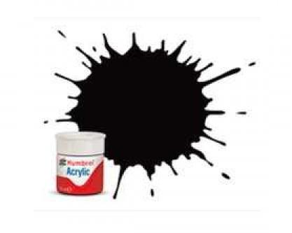 Vopsea modelism Humbrol 0085 Acrilic Numar Coal Black Satin 12 ml