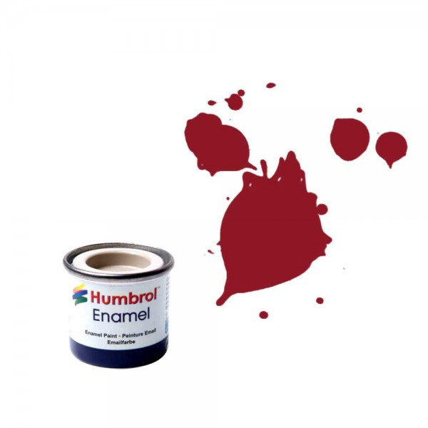 Vopsea modelism Humbrol 0223 Email Numar 20 Crimson Gloss 14 ml 0
