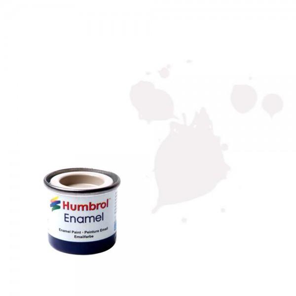 Vopsea modelism Humbrol 0374  Email Numar 34 White Matt 14 ml