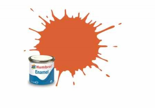 Vopsea modelism Humbrol 0905 Email Numar 82 Orange Lining Matt 14 ml