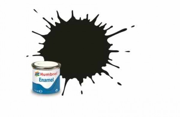 Vopsea modelism Humbrol 1777 Email Numar 163 Dark Green Satin 14 ml