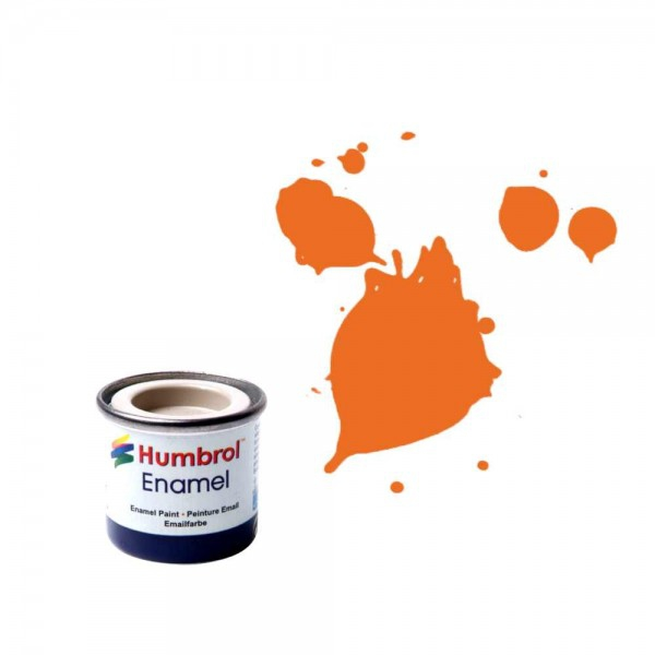Vopsea modelism Humbrol Email 0196 Numar 18 Orange Gloss 14 ml 0
