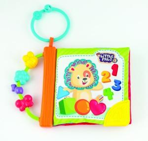Carticica pentru bebelusi cu activitati din material textil Winfun care se agata
