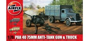 Kit constructie Airfix PaK 40 75mm Tun AntiTank si Camion