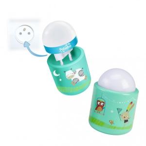 Lampa de veghe pentru copii si bebelusi Pabobo Nomade Iepuras si Vacuta cu LED